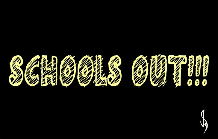 Schools Out!!! шрифт скачать бесплатно