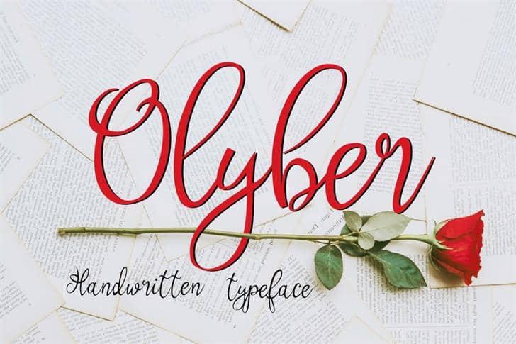 Olyber шрифт скачать бесплатно