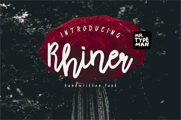 Rhiner шрифт скачать бесплатно