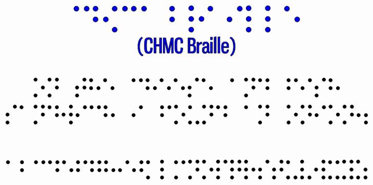 CHMC Braille шрифт скачать бесплатно