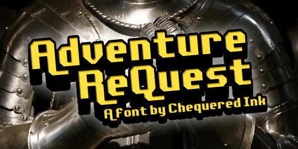 Adventure ReQuest шрифт скачать бесплатно
