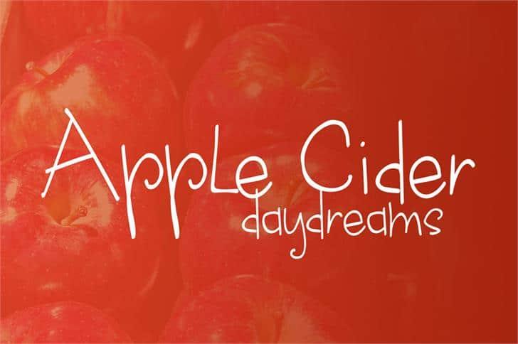 Apple cider daydreams шрифт скачать бесплатно
