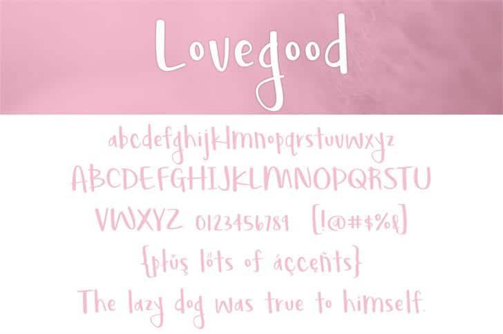 Lovegood шрифт скачать бесплатно