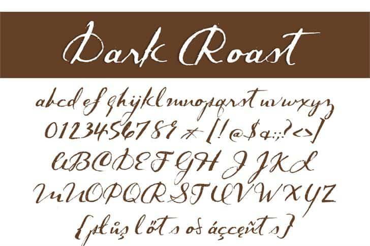 Dark Roast шрифт скачать бесплатно