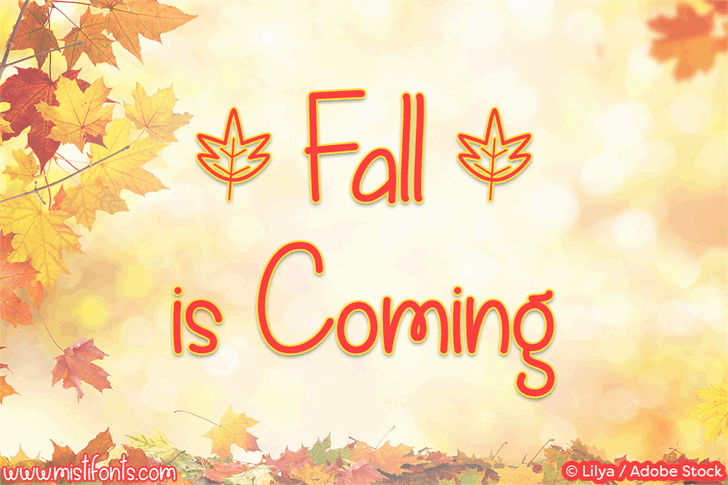 Fall is Coming шрифт скачать бесплатно