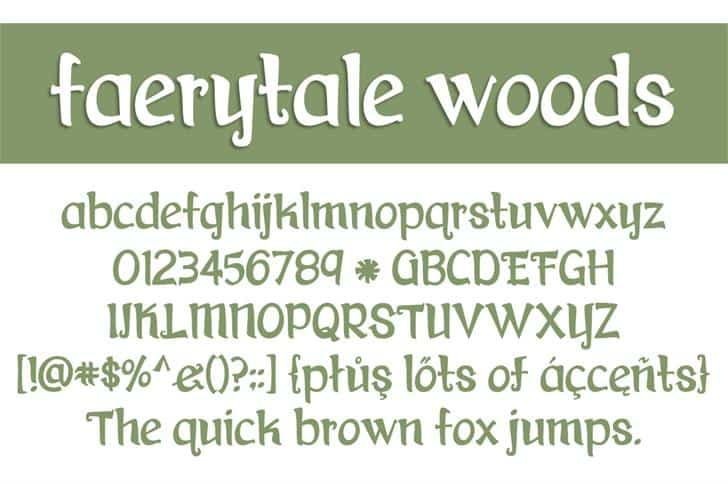 Faerytale Woods шрифт скачать бесплатно
