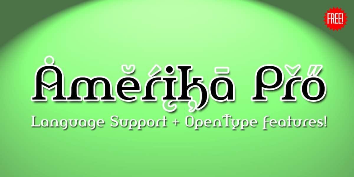 Amerika Pro шрифт скачать бесплатно