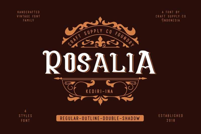CS Rosalia шрифт скачать бесплатно