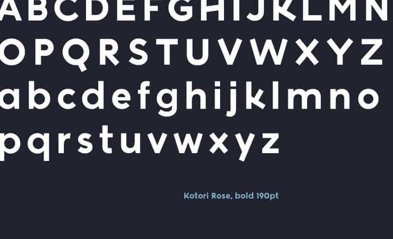 Kotori Rose шрифт скачать бесплатно