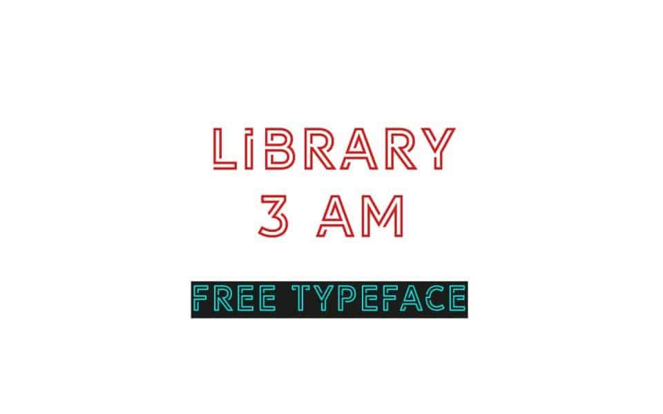 Library 3 am шрифт скачать бесплатно