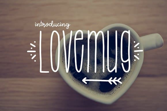 Lovemug   шрифт скачать бесплатно
