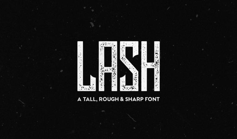Lash Rough шрифт скачать бесплатно