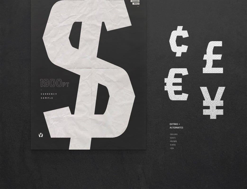 Yeager шрифт скачать бесплатно
