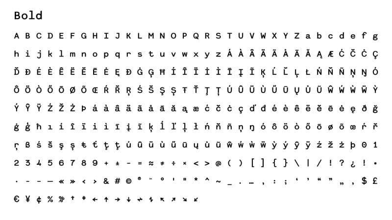 Dita Grotesk Mono шрифт скачать бесплатно