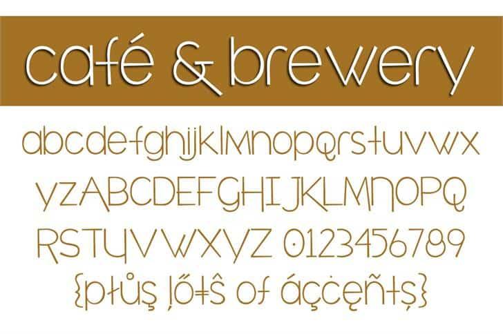 café & brewery шрифт скачать бесплатно