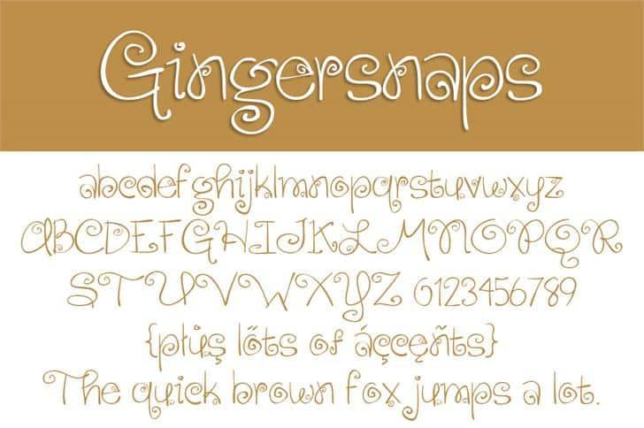 Gingersnaps шрифт скачать бесплатно