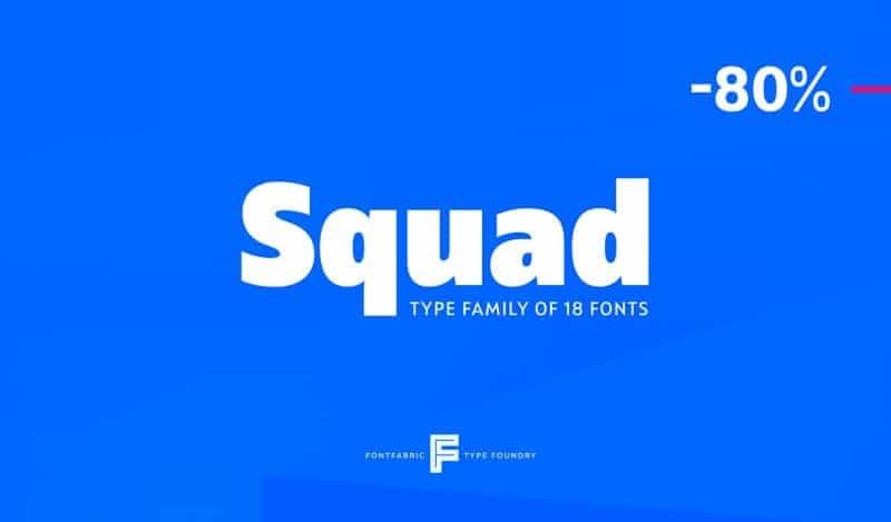 Squad Regular шрифт скачать бесплатно