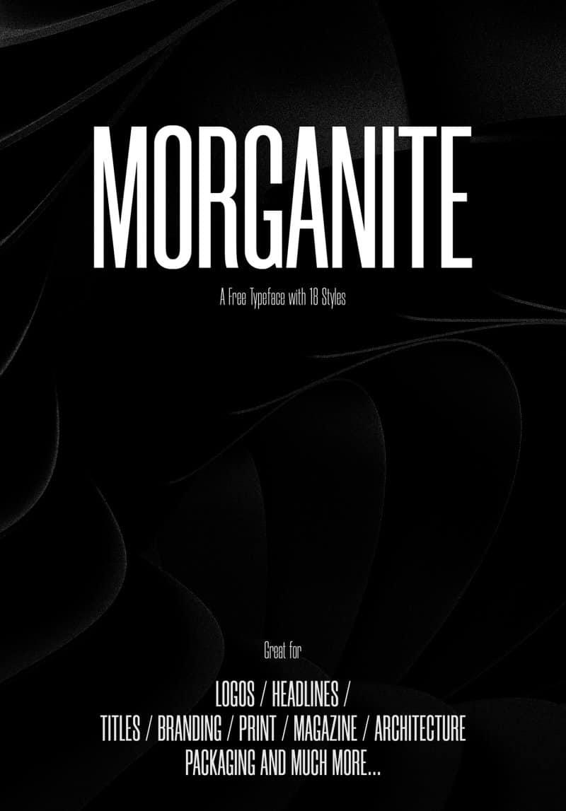 Morganite шрифт скачать бесплатно