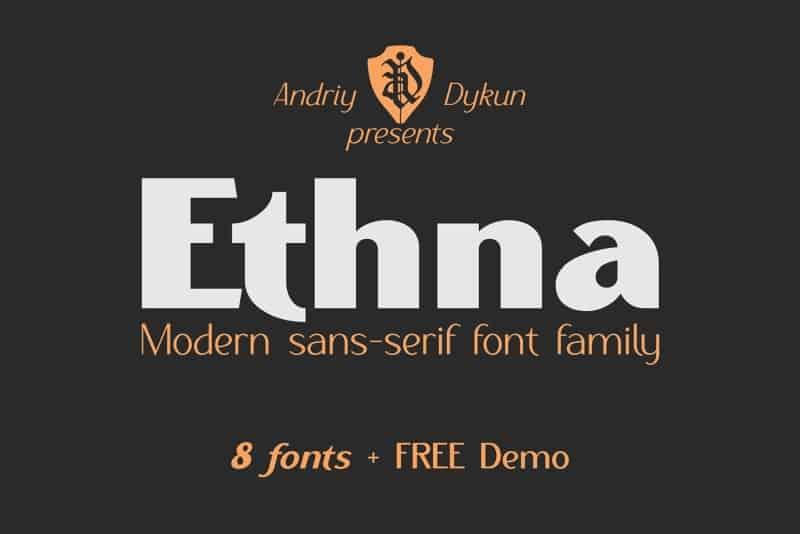 Ethna Light Demo шрифт скачать бесплатно