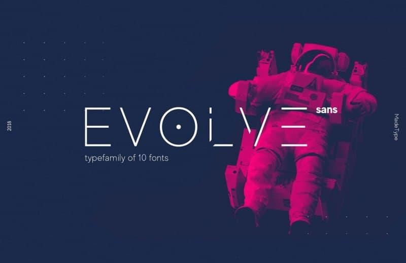 MADE Evolve Sans EVO шрифт скачать бесплатно