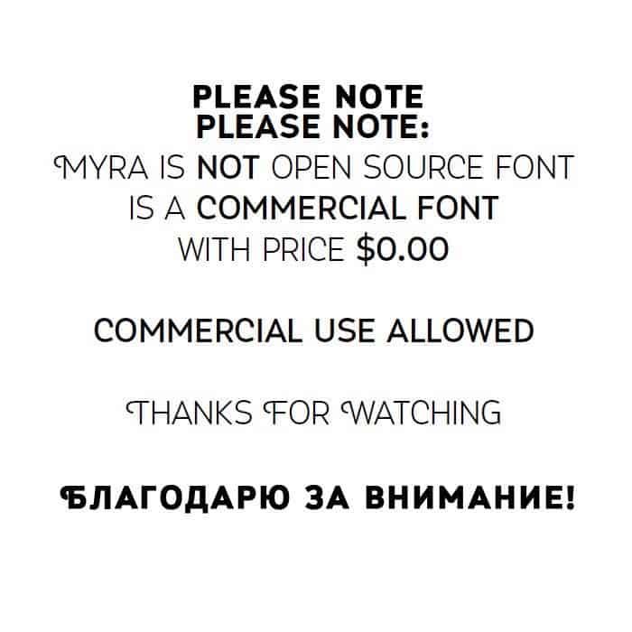Myra 4F Caps шрифт скачать бесплатно