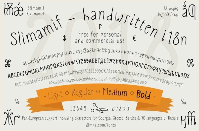 Slimamif шрифт скачать бесплатно