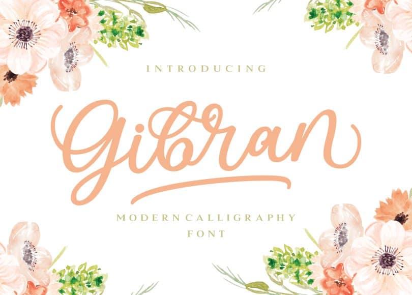 Gibran шрифт скачать бесплатно