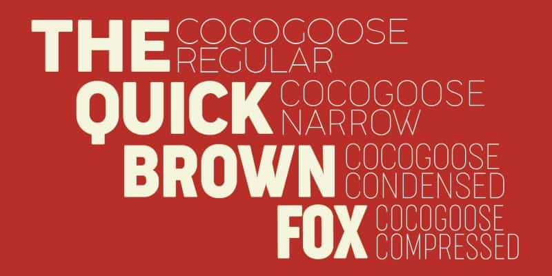 Cocogoose Narrows шрифт скачать бесплатно