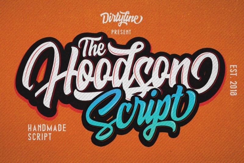 Hoodson Script шрифт скачать бесплатно