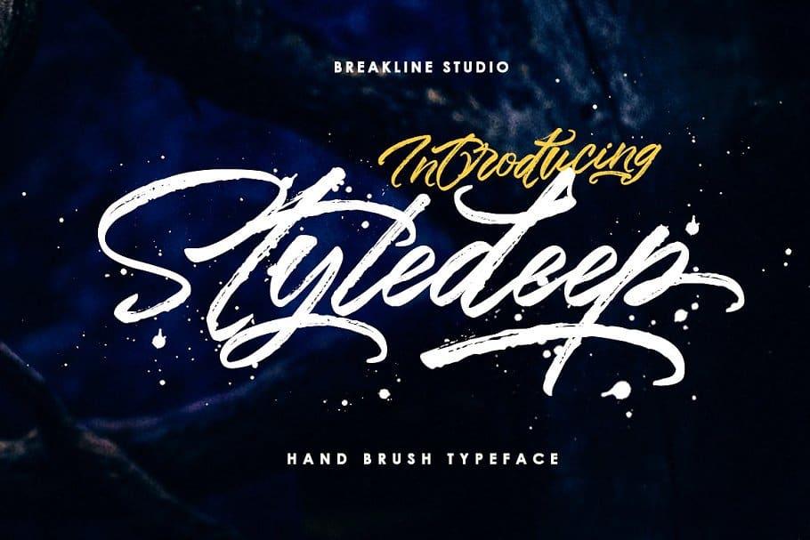 Styledeep шрифт скачать бесплатно