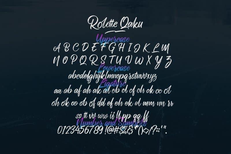 Rollete Qaku шрифт скачать бесплатно