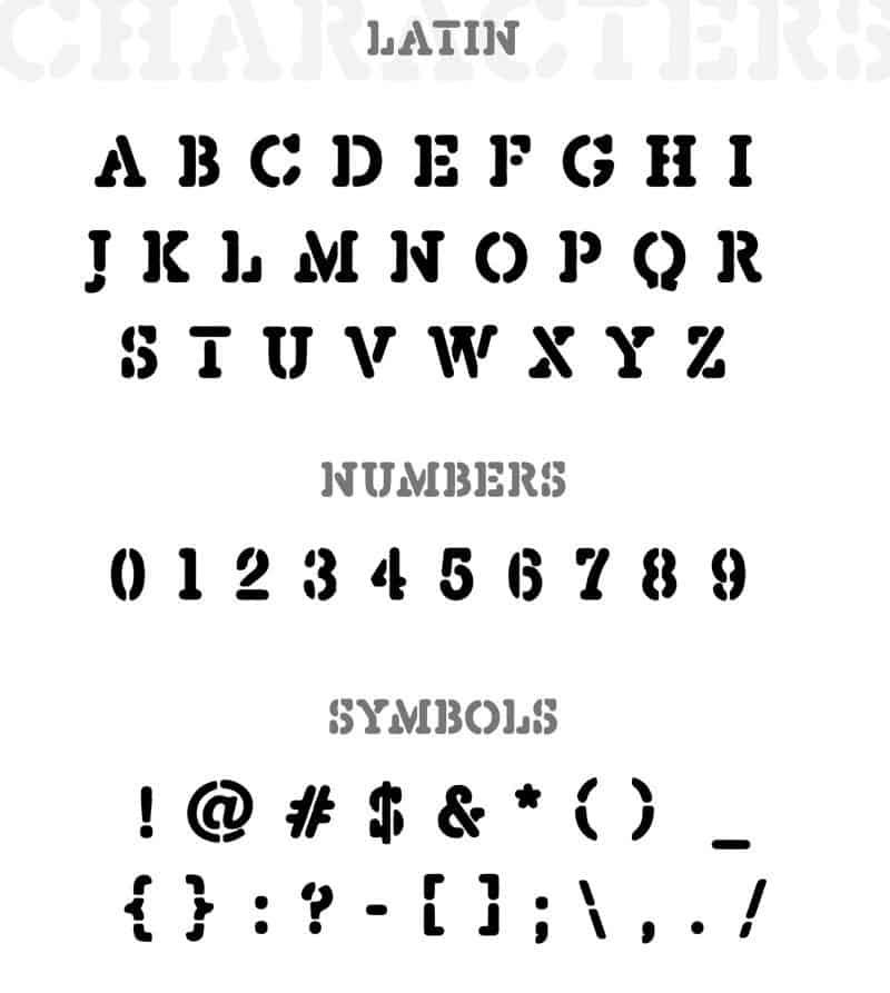 Depravo Stencil шрифт скачать бесплатно