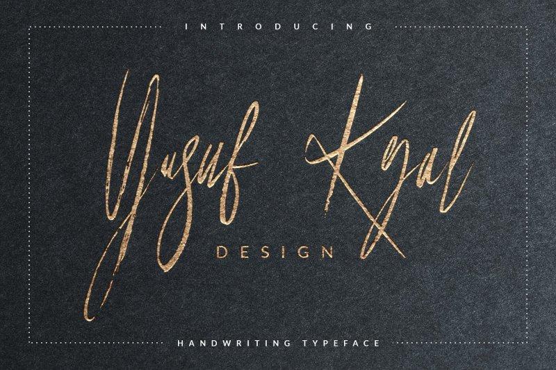 Yusuf Kral Artistica шрифт скачать бесплатно