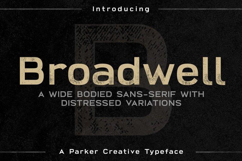 Broadwell шрифт скачать бесплатно