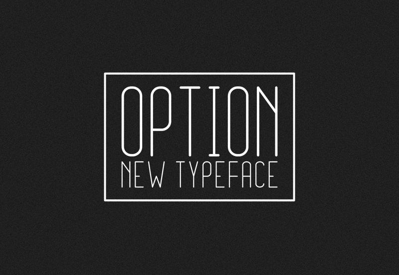 Option Light шрифт скачать бесплатно