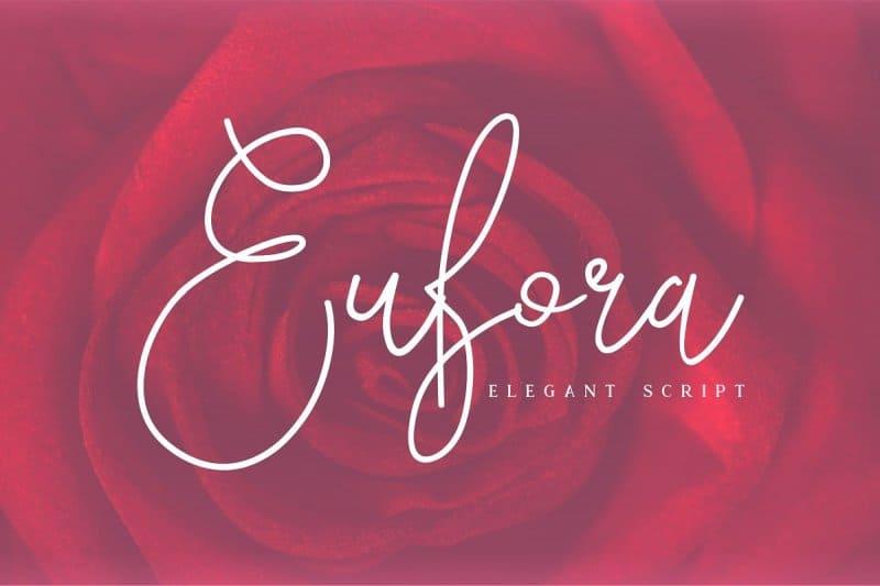 Eufora Elegant Script шрифт скачать бесплатно
