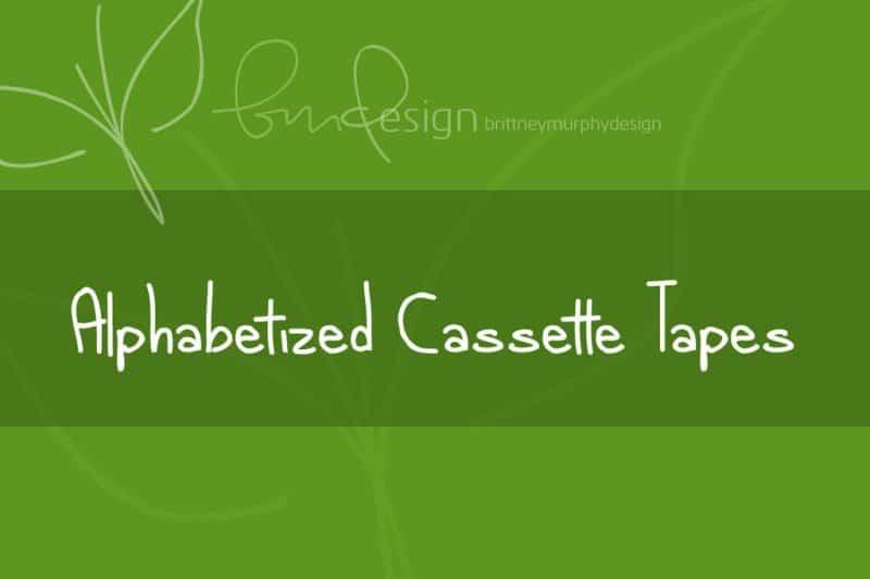 Alphabetized cassette tapes шрифт скачать бесплатно