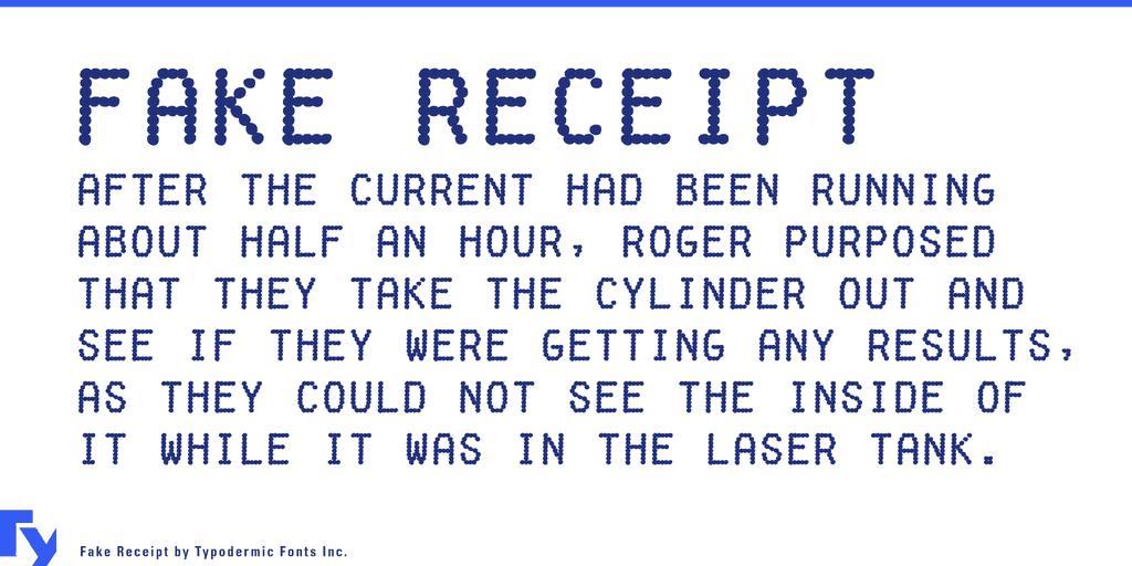 Fake Receipt шрифт скачать бесплатно
