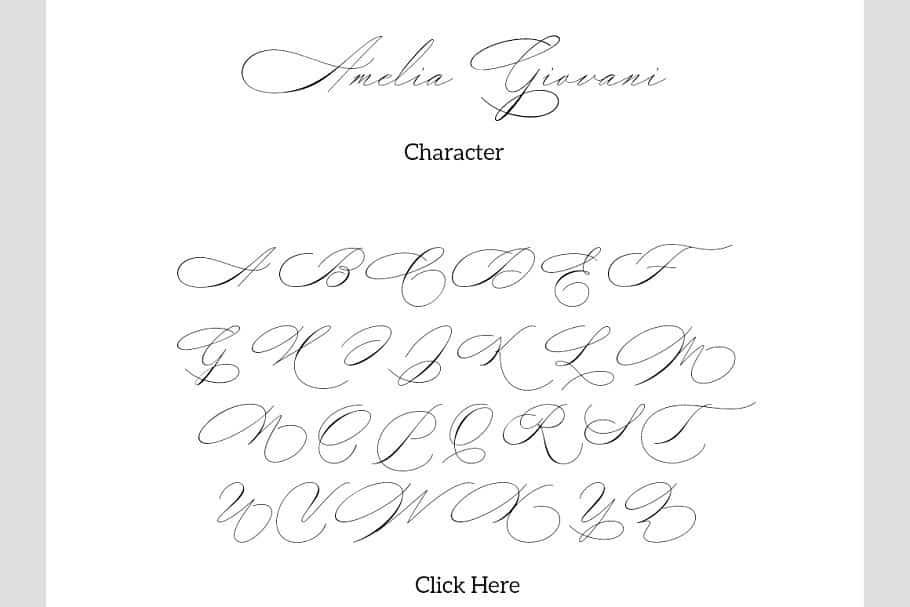 Amelia Giovani шрифт скачать бесплатно