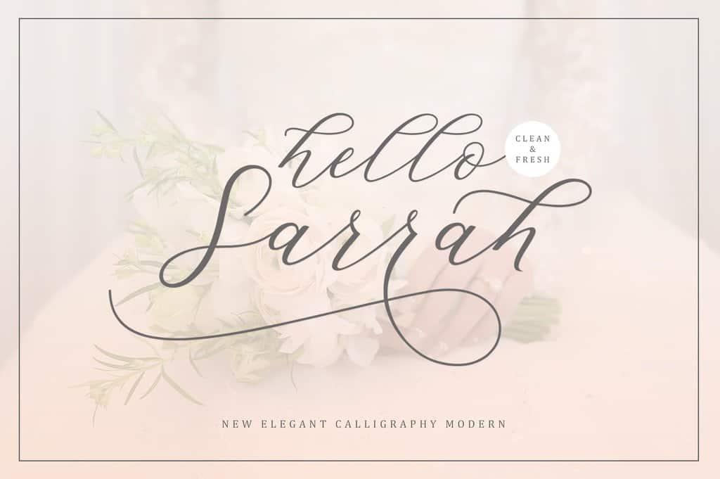 Hello Sarrah шрифт скачать бесплатно