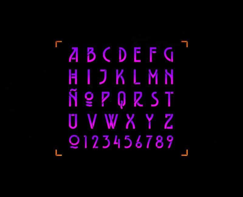 Belladona Stencil шрифт скачать бесплатно