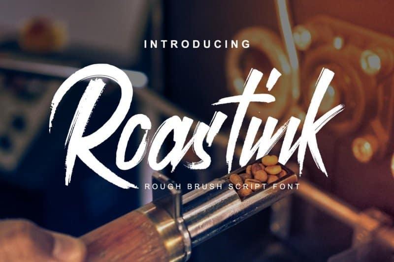 Roastink Script Rough Brush   шрифт скачать бесплатно