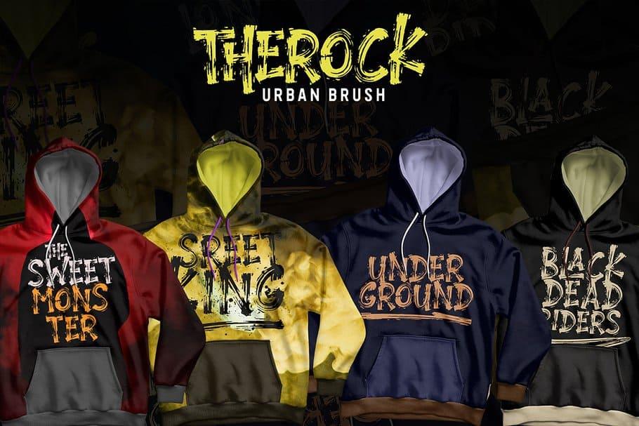 THEROCK // URBAN BRUSH шрифт скачать бесплатно