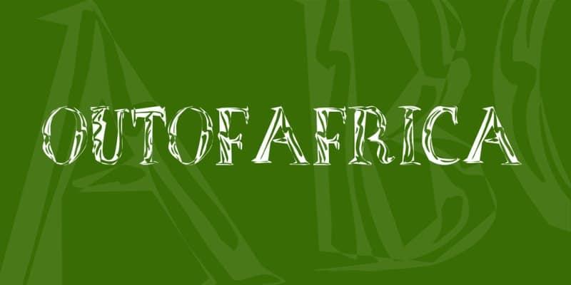 OutOfAfrica шрифт скачать бесплатно