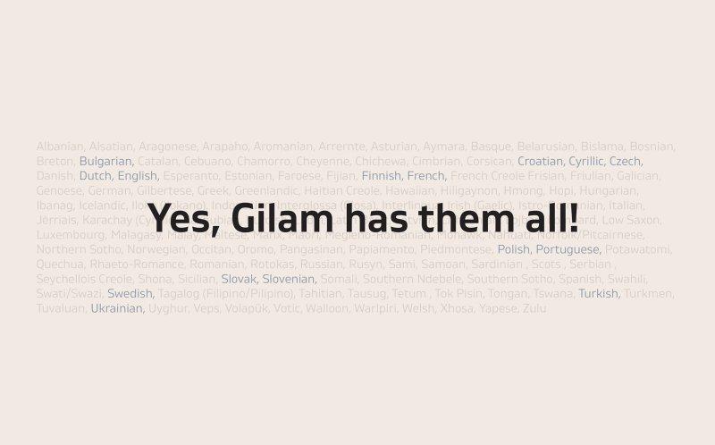 Gilam шрифт скачать бесплатно