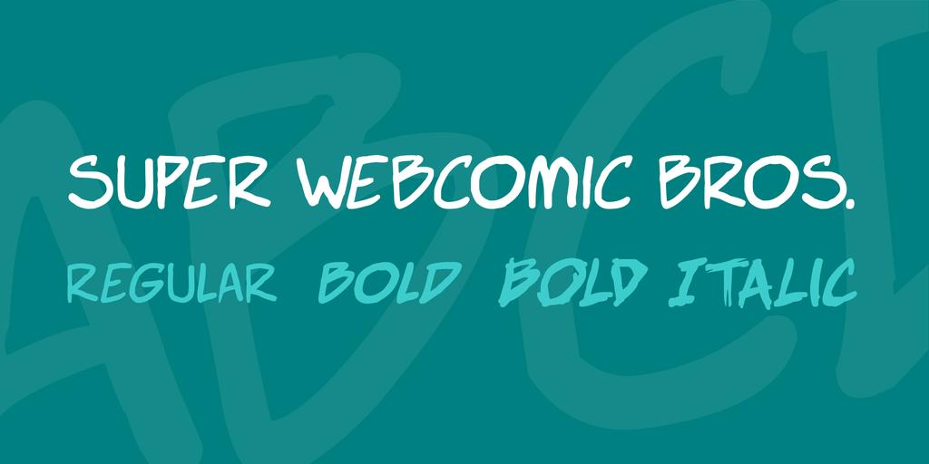 Super Webcomic Bros шрифт скачать бесплатно