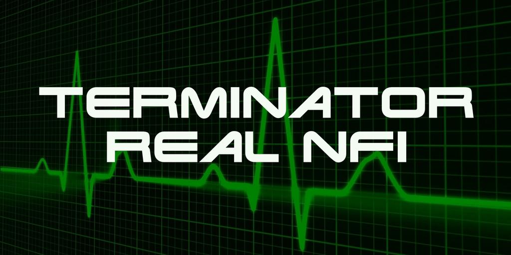 Terminator Real NFI шрифт скачать бесплатно