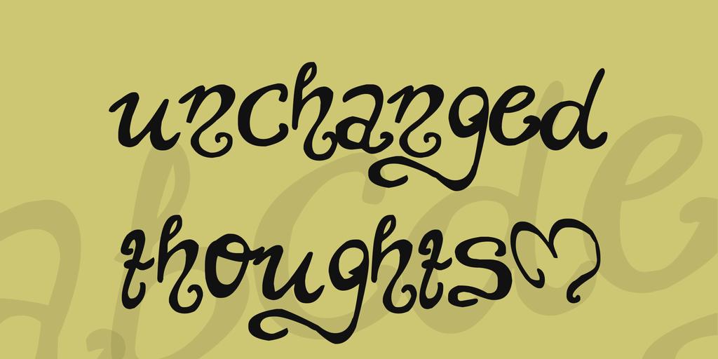 Unchanged thoughts шрифт скачать бесплатно