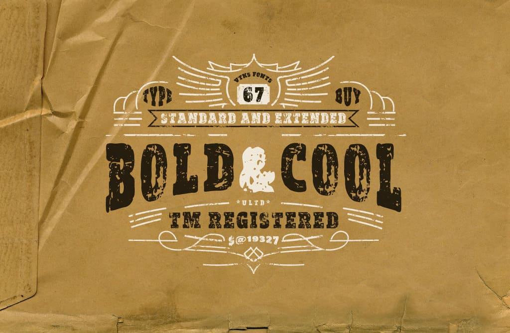 Vtks Bold&Cool шрифт скачать бесплатно