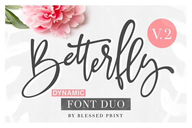BetterFly 2 - Dynamic   Duo шрифт скачать бесплатно